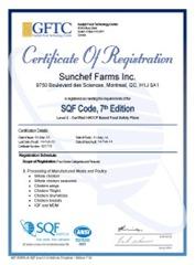 Certificat  Code  SQF